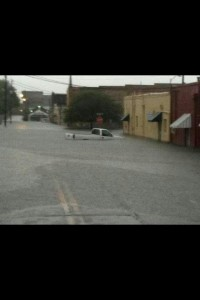 Flooding in Downtown Live Oak, Florida