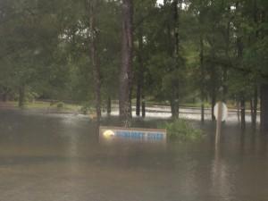 Flood Damage in Suwannee County, Florida